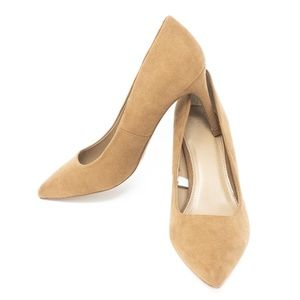 Womens Shades of Nude Pointed Toe Pumps